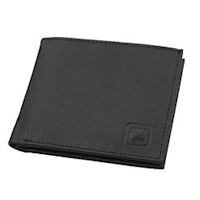 Black Bifold 6 slot Wallet
