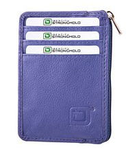 Royal Blue Mini Leather RFID Wallet