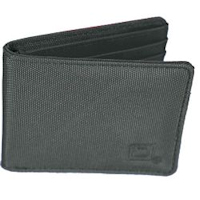Grey Nylon Bi-fold 6-slot Wallet
