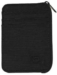 Black Mini Nylon RFID Wallet