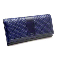 Indigo RFID Ladies Weave Clutch