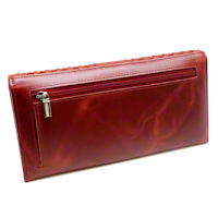 Red RFID Ladies Weave Clutch