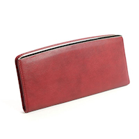 Red Ladies Slim Clutch Wallet