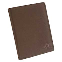 Brown Blocking Passport Nylon Wallet