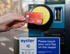 Debit Card read by Oyster Reader